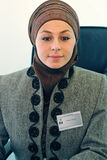Office woman. Muslim woman in office portrait Stock Image