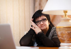 Office Woman indoors Royalty Free Stock Photography