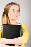 Office woman with laptop Stock Image