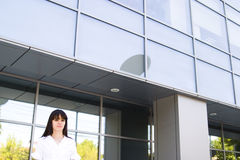Office woman outside Stock Images