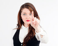 Office woman pointing Royalty Free Stock Photo