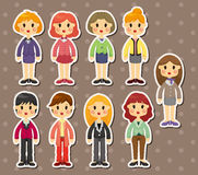 Office woman stickers Royalty Free Stock Photos
