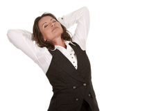 Office woman stretching Stock Photography