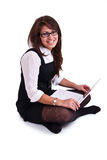 Office woman in studdio Royalty Free Stock Photo