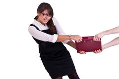 Office woman in studdio Royalty Free Stock Image