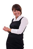 Office woman in studdio Royalty Free Stock Photos