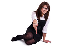 Office woman in studio Stock Photo