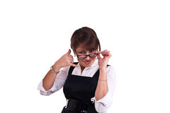 Office woman in studio Royalty Free Stock Images