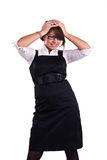 Office woman in studio Stock Image