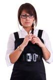Office woman in studio Stock Photos