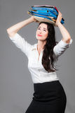 Office woman under pressure Royalty Free Stock Photography