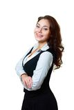 Office woman in white shirt Stock Images