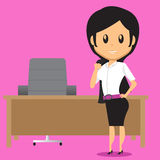 Office Woman After Work Royalty Free Stock Photos