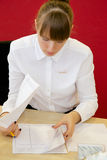 Office woman working Royalty Free Stock Images