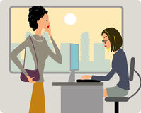 Office women. Two women in the office Royalty Free Stock Photos