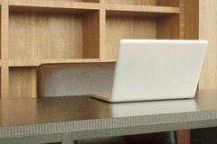 Office wooden desk Royalty Free Stock Photos