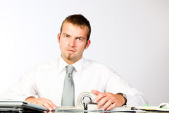 Office Work. Young Corporate Man Working In The Office Royalty Free Stock Photo