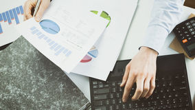 Office Work - Bookkeeping Royalty Free Stock Photo