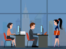 Office work. Business team. Royalty Free Stock Image