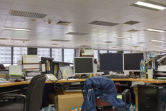 Office after work with equipment. Empty office after work with equipment Royalty Free Stock Photography