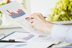Office Work - Financial Data Royalty Free Stock Image