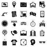 Office work icons set, simple style. Office work icons set. Simple set of 25 office work vector icons for web isolated on white background Stock Photo