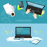 Office work laptop hands businessman solution of the problem Stock Image