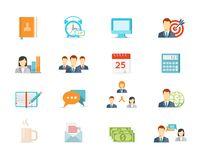 Office work and management icons Royalty Free Stock Images