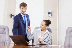 Office work moments Stock Image