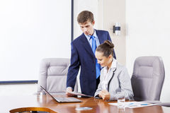 Office work moments Stock Photos