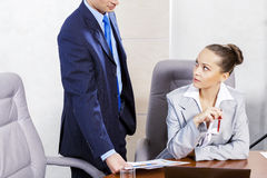 Office work moments Royalty Free Stock Images