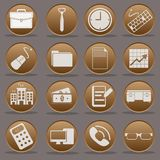 Office work nine to five icon set. The Office work nine to five icon set collection Royalty Free Stock Image
