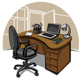 Office work place Royalty Free Stock Photos