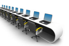 Office work place. 3d illustration of Office work place Stock Photography