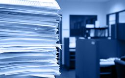 Office work - selective focus stock photo