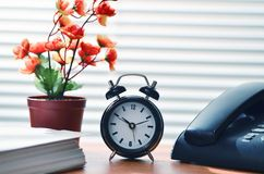 Office work & time concept royalty free stock image
