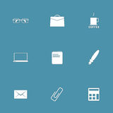 Office Work Vector Icon Set Royalty Free Stock Photo