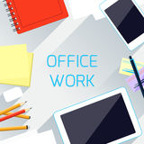 Office work and workplace organization concept Royalty Free Stock Image