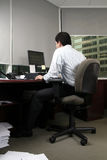 Office worker. A Hard working Office worker royalty free stock photography