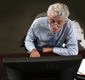 Office worker. A Hard working Office worker stock photos