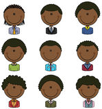 Office Worker African-American Male Avatar Royalty Free Stock Photos