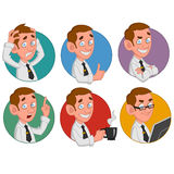 Office worker. Avatars of office worker. Vector Royalty Free Stock Photos