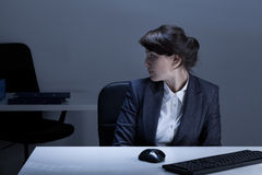 Office worker being alone Royalty Free Stock Photography