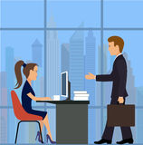 Office worker.Business meeting Royalty Free Stock Photos