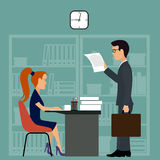 Office worker.Business meeting Stock Image