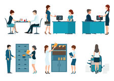 Office worker business people vector illustration. Royalty Free Stock Images