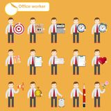 Office worker - business sketches Royalty Free Stock Photos