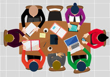 Office worker. Business work, desk and workplace, employee man Stock Image