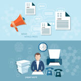 Office worker businessman paperwork document Stock Image