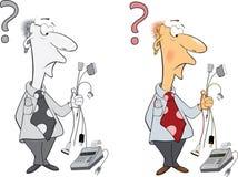 Office worker cartoon Stock Photo
